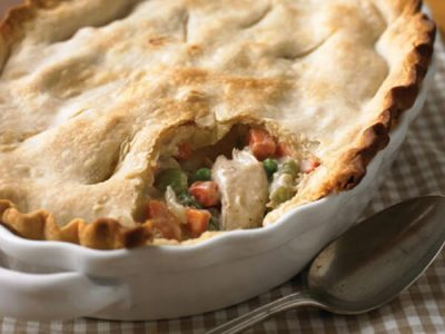 MINESTRONE POT PIE  WITH WHOLEWHEAT PARMESAN TOPPING