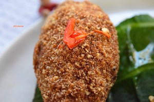Garri Crusted Chicken
