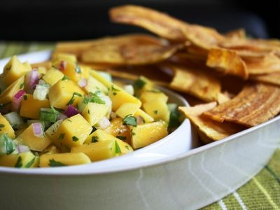 Recipe for the weekend is Tostones with Spicy Mango Mojo